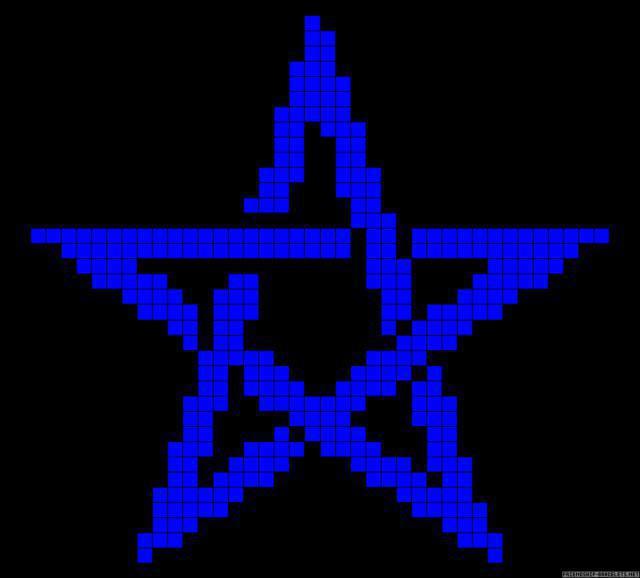 Звезда крестиком вышивка