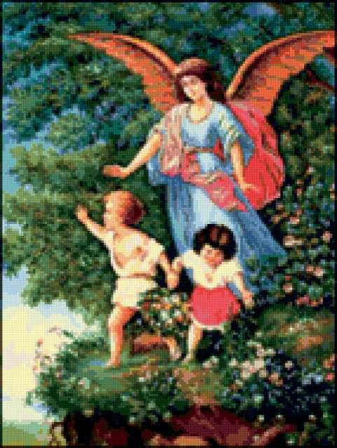 Ангел-хранитель 2, живопись,