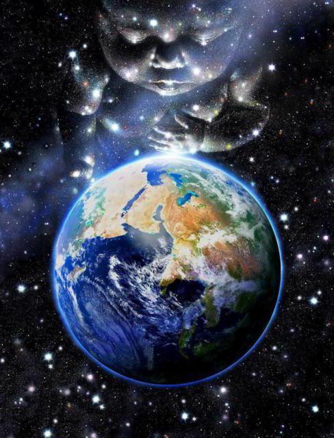Планета Земля, картина, космос