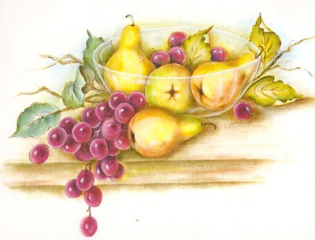 Схема вышивки виноград