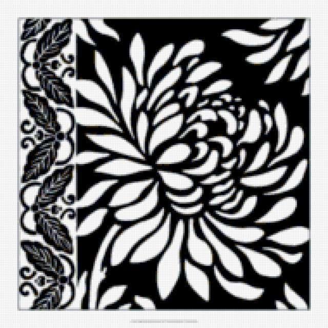 Чёрно-белая подушка