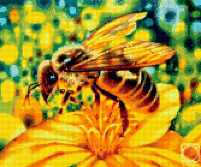 Пчёлка на цветке, предпросмотр