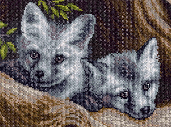 Волчата, волки, природа