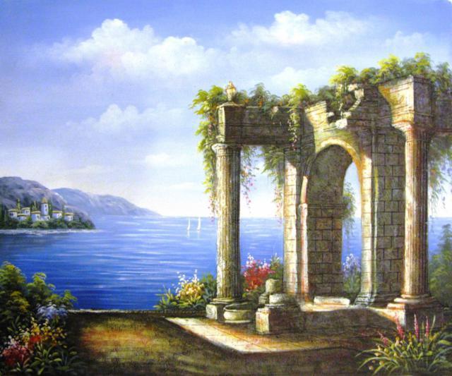 Арка, арка, развалины, море,