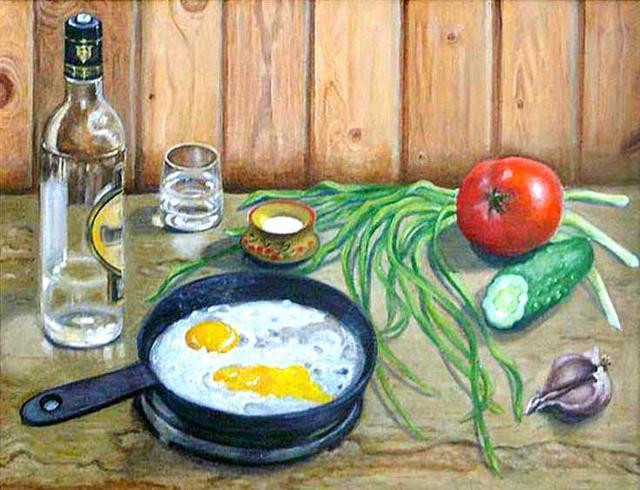 Натюрморт с яичницей