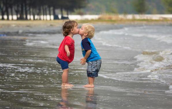 Первый поцелуй, картина