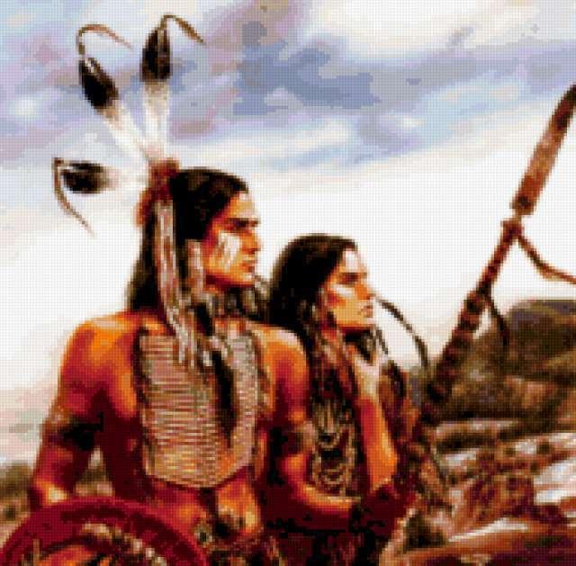Вместе на тропу войны, индейцы