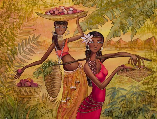 Подруги африканки, африканка