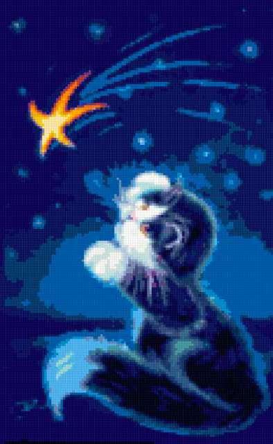 Кот и звездочка, предпросмотр