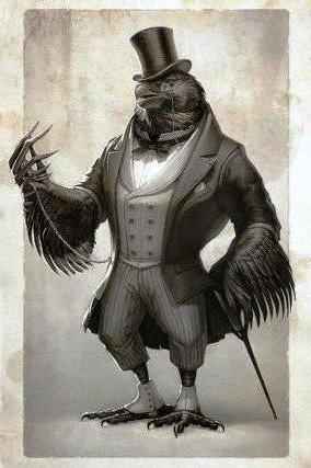 Ворон-джентельмен, оригинал