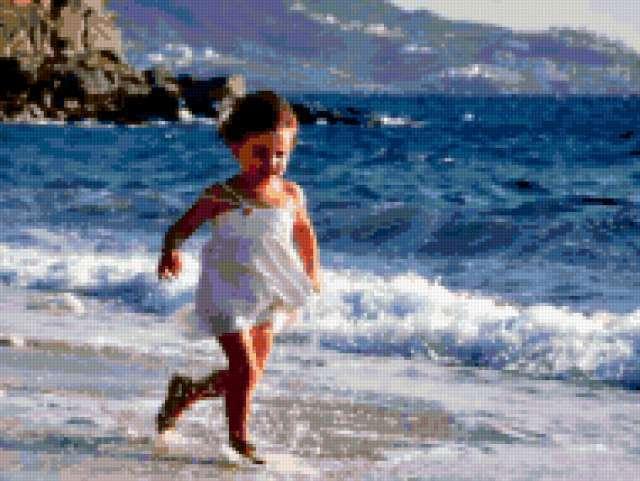 Бегущая по волнам, живопись,