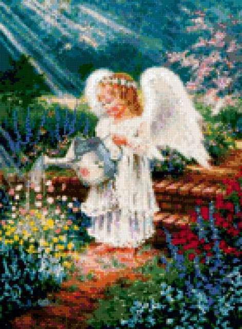 Цветочный ангел, предпросмотр