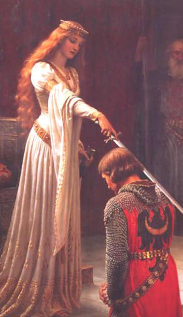 Посвящение в рыцари, дама