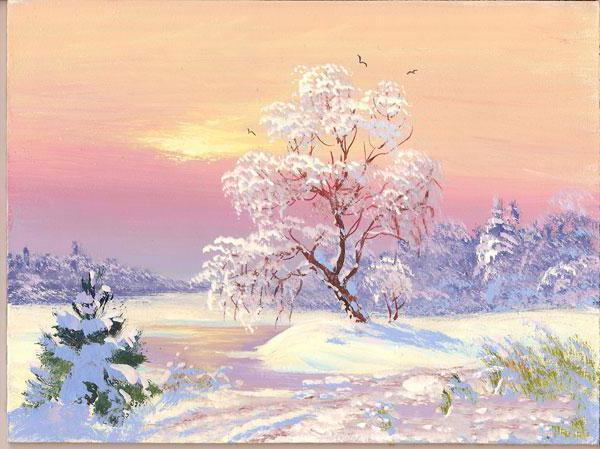Зимние утро, оригинал
