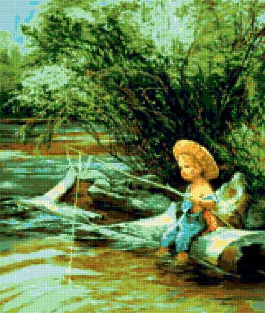 Маленький рыбак, маленький