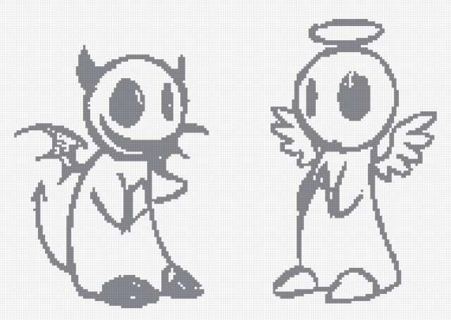 Ангеи и Демон:), монохромная,