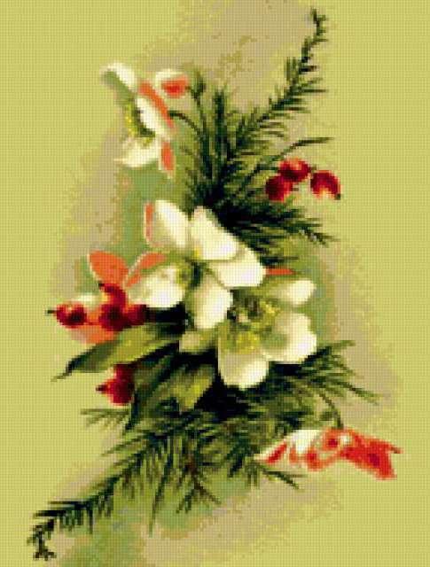 """Гобелен """"Цветы"""", предпросмотр"""