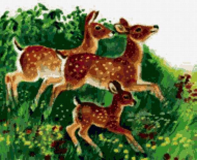 Схемы для вышивки крестом природа пейзаж 144