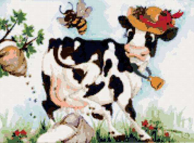 Забавная корова, предпросмотр