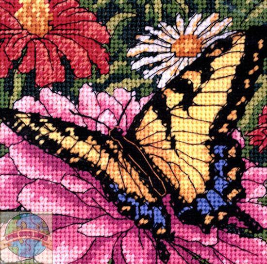 Цветы и бабочки, оригинал