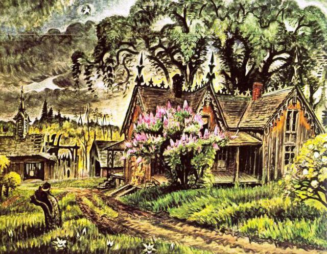 Деревенский пейзаж, оригинал