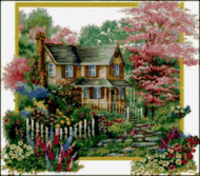 Цветы у дома, предпросмотр