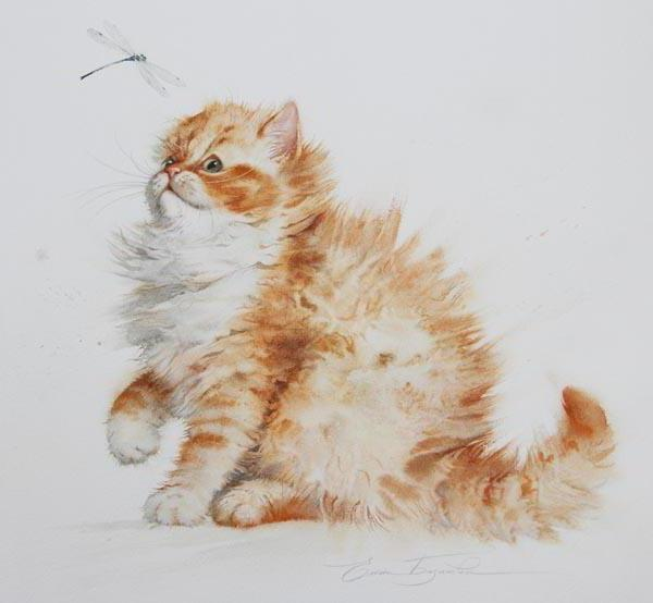 Рыжий котенок, оригинал