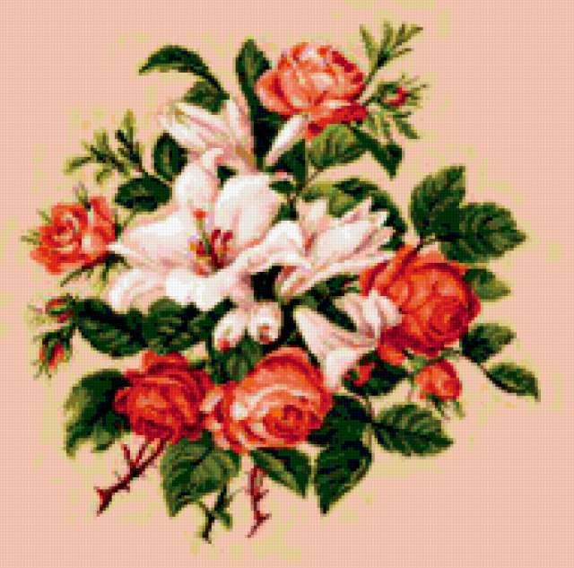 Лилии и розы, предпросмотр