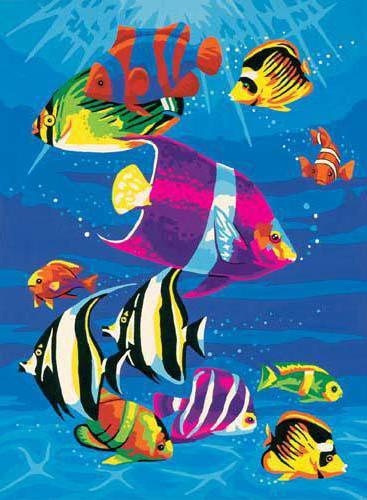 рыбка, водоросли, природа,