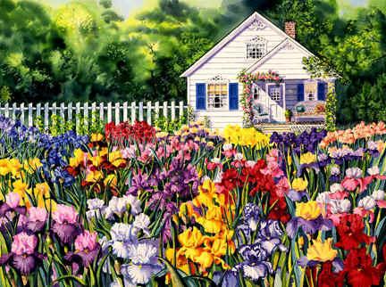 Домик в цветах, домик,