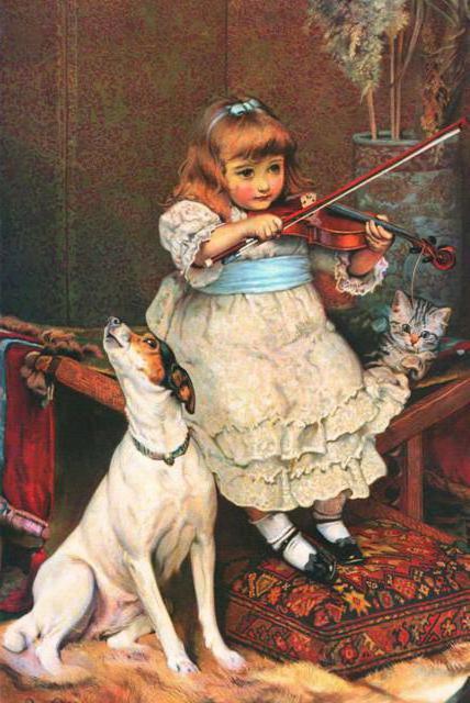 Девочка со скрипкой, оригинал