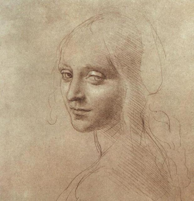 Рисунок лица ангела (Да Винчи)