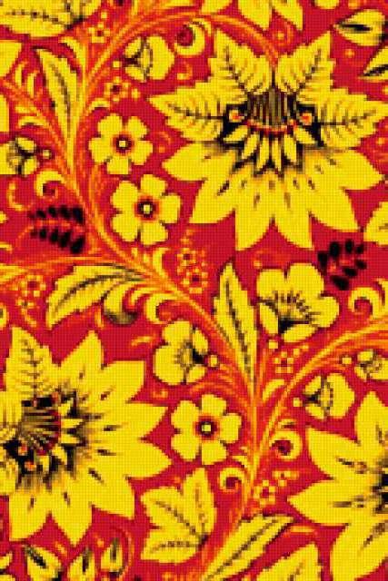 К схеме вышивки «Хохлома