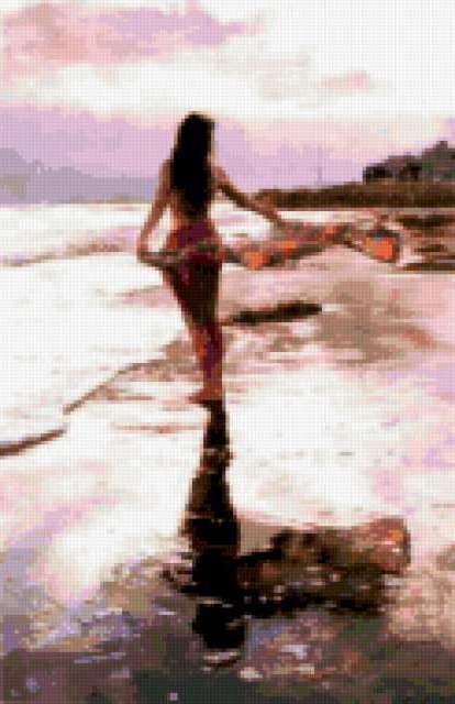 на берегу девушка фото