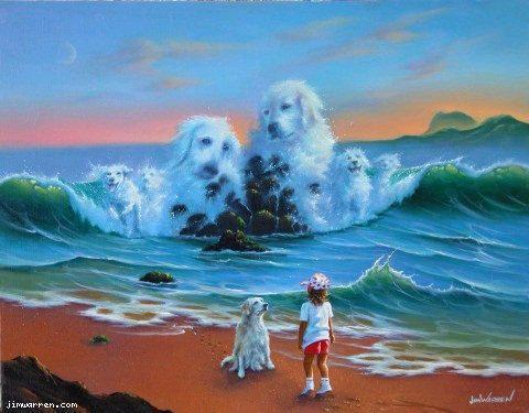 Морской пейзаж,