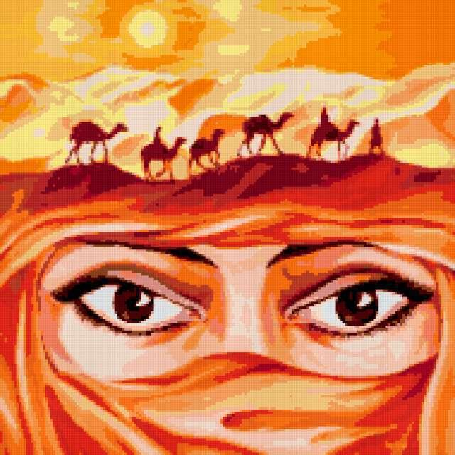 женщина, глаза, пустыня,