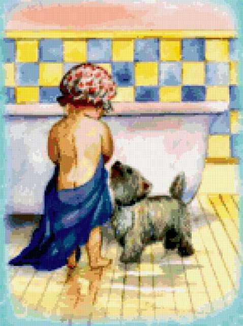 """животные"""", мальчик.собака"""