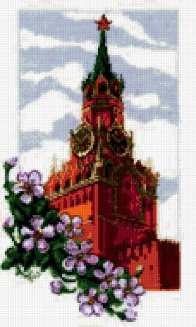 Спасская башня, москва, кремль