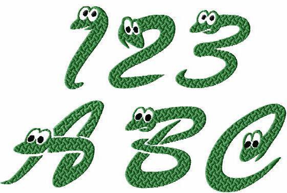 Алфавит со змейками, год змеи,