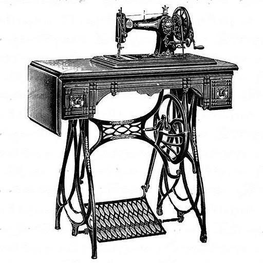 Швейная машинка, открытка