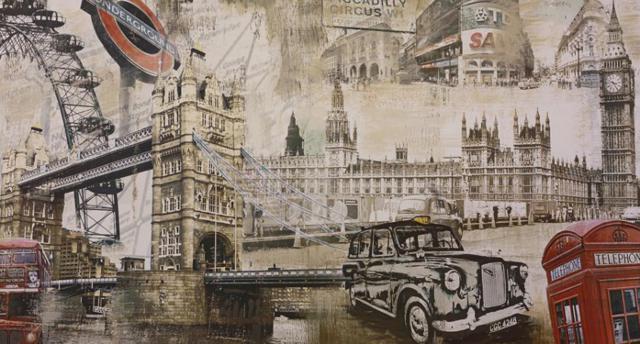 Лондон, город, мост, машина