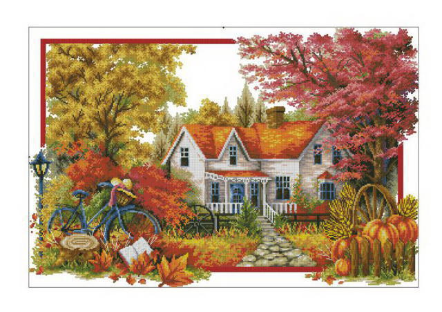Осень в деревне, оригинал