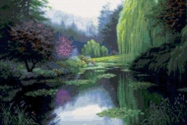Озеро в лесу, предпросмотр