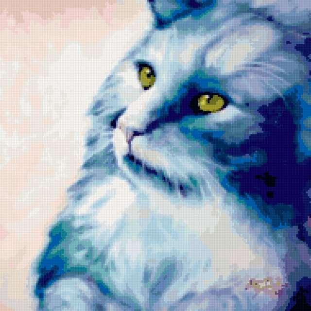 Красивый задумчивый кот))