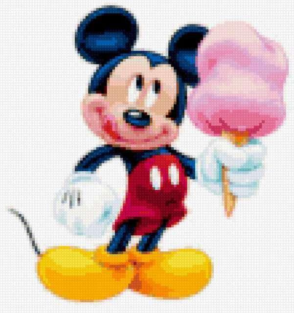 Микии маус с мороженым,