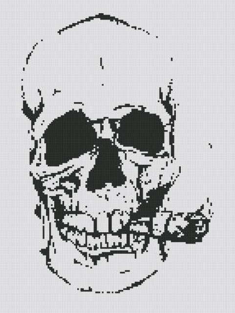 череп, графика,