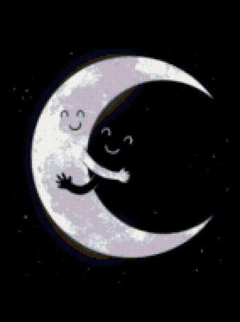 Луна и небо, предпросмотр