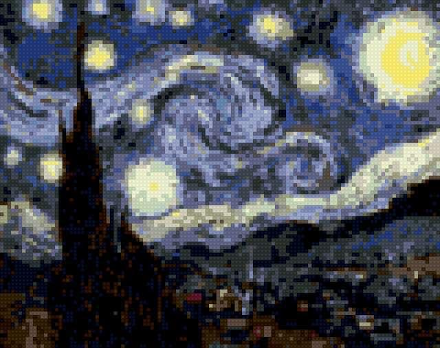 Звездное небо, В. Ван Гог,