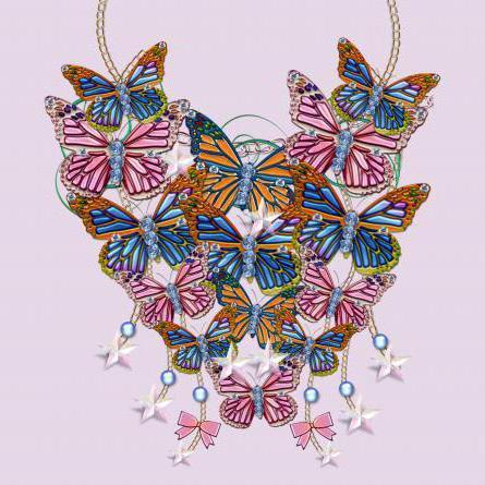 Сердце из бабочек, бабочка,