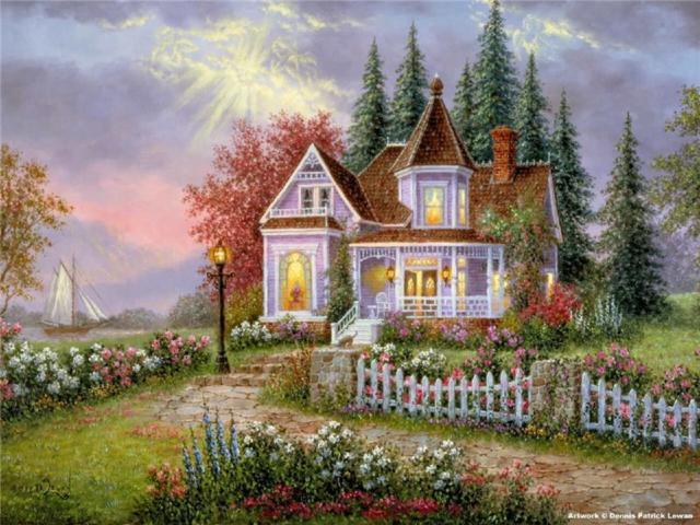 Дом мечты с парусником,